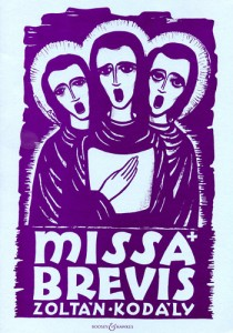 Cover of Kodaly's Missa Brevis score