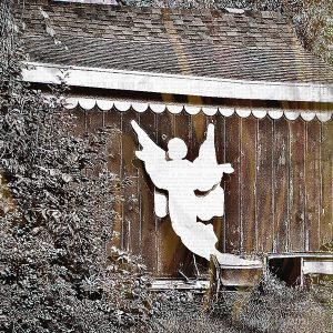 Angel on a Barn, Photo by Diane Kresh